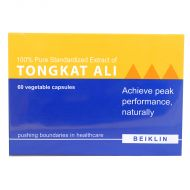 Beiklin 100% Pure Standardized Extract of Tongkat Ali- 60 Vegethable Capsules
