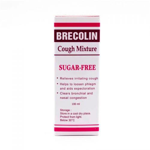Brecolin Cough Mixture (Sugar Free) - 100ml