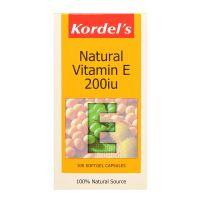 Kordel's Natural Vitamin E 200IU - 100 Softgel Capsules
