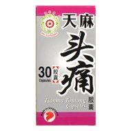 Mei Hua Brand Tianma Toutong - 30 Capsules