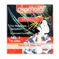 Okamoto Sensation - 3 Lubricated Condoms