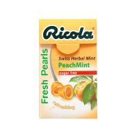 Ricola Fresh Pearls Peach Mint Swiss Herbal Mint - 25gm