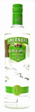Smirnoff Twist of Green Apple Made with Triple Distilled Vodka - 70 cl (37.5% vol)