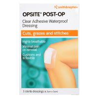 Smith and Nephew Opsite Post-Op - 5 Sterile Dressings (6.5cm x 5cm)