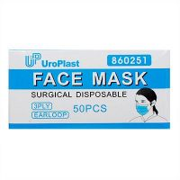 UroPlast Face Mask 3 Ply Earloop - 50 Pieces