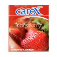 Carex Strawberry - 3 Flavoured Condoms