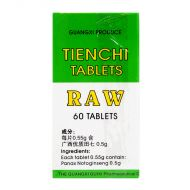Guanxi Province Tienchi Tablets (Raw) - 60 Tablets