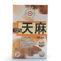 Mei Hua Brand 100% Pure Rhizoma Gastrodiae Capsule - 60 Capsules
