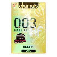 Okamoto 0.03 Real Fit Condoms - 4 Pieces