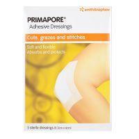Smith & Nephew Primapore Adhesive Dressings - 5 sterile dressings (8.3cm x 6cm)
