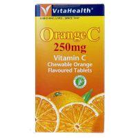 VitaHealth Orange C 250mg Vitamin C - 100 Chewable Orange Flavoured Tablets